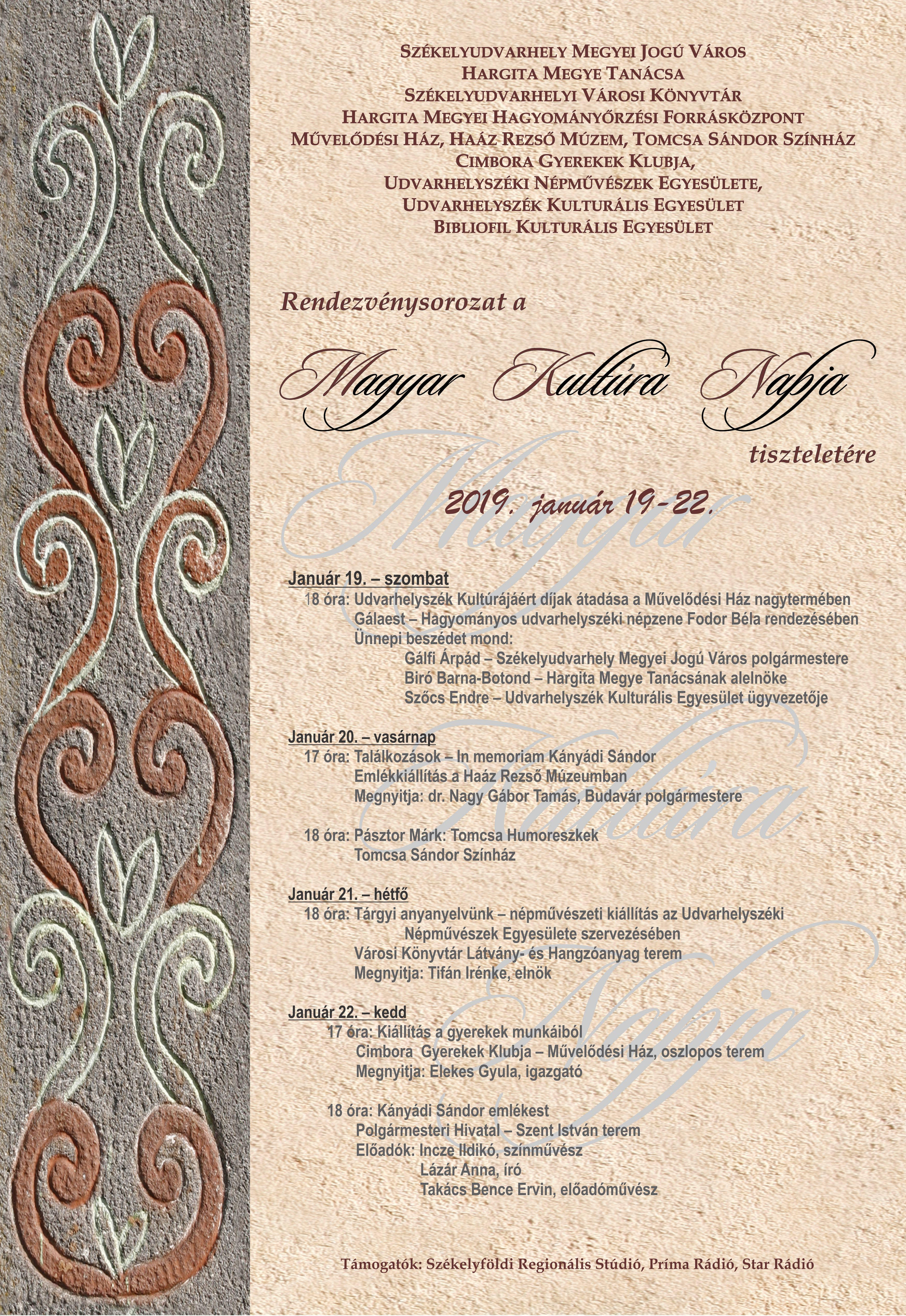 Spectacol de gală la Odorheiu Secuiesc cu ocazia Zilei Culturii Maghiare