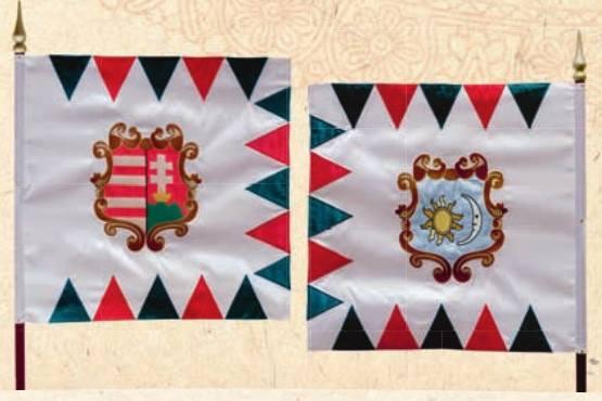 Culorile drapelurilor istorice în Secuime din vremea revoluției 1848-1849