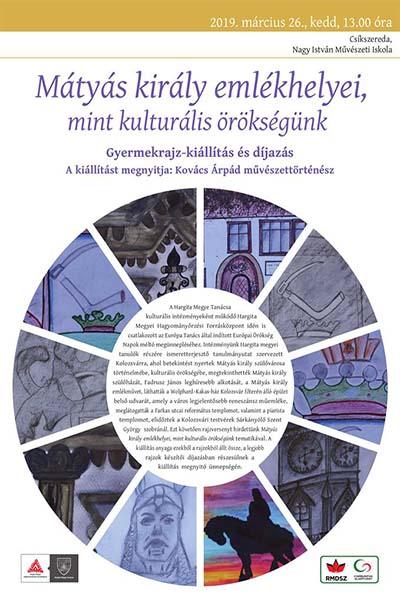 Imaginile concursului de desene dedicat  regelui Matei Corvinul expuse la Miercurea Ciuc