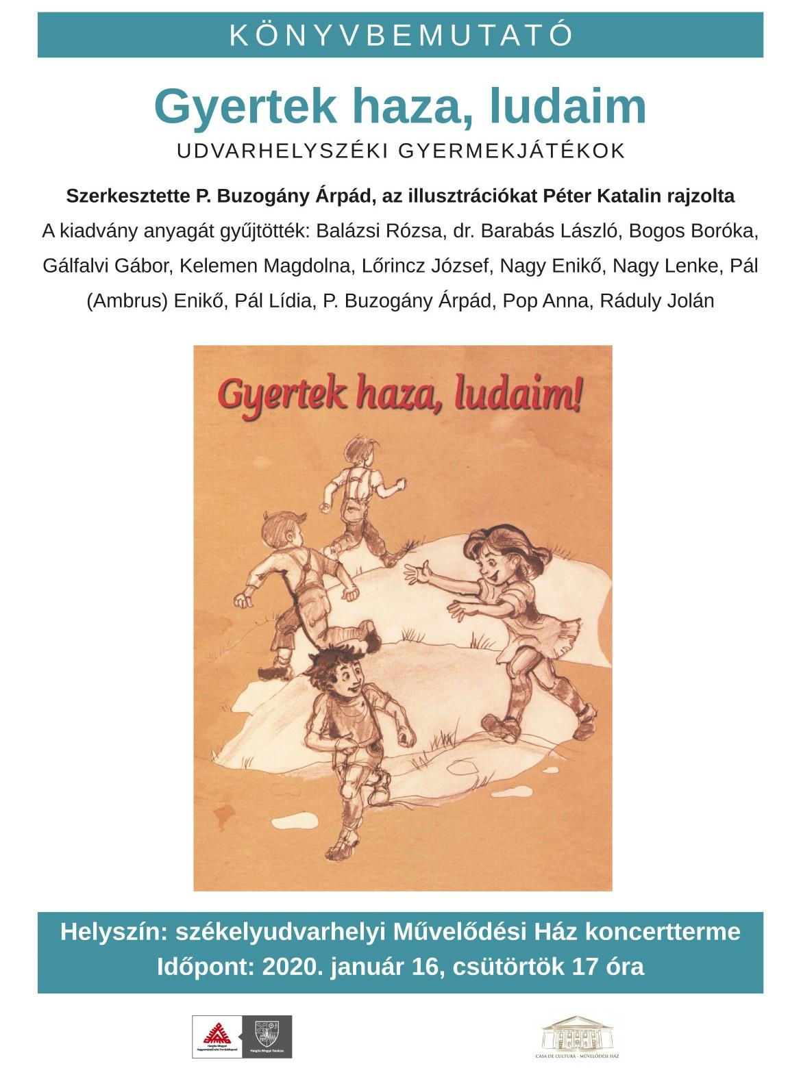 Prezentare carte: colecția jocurilor populare de copii din zona Odorhei