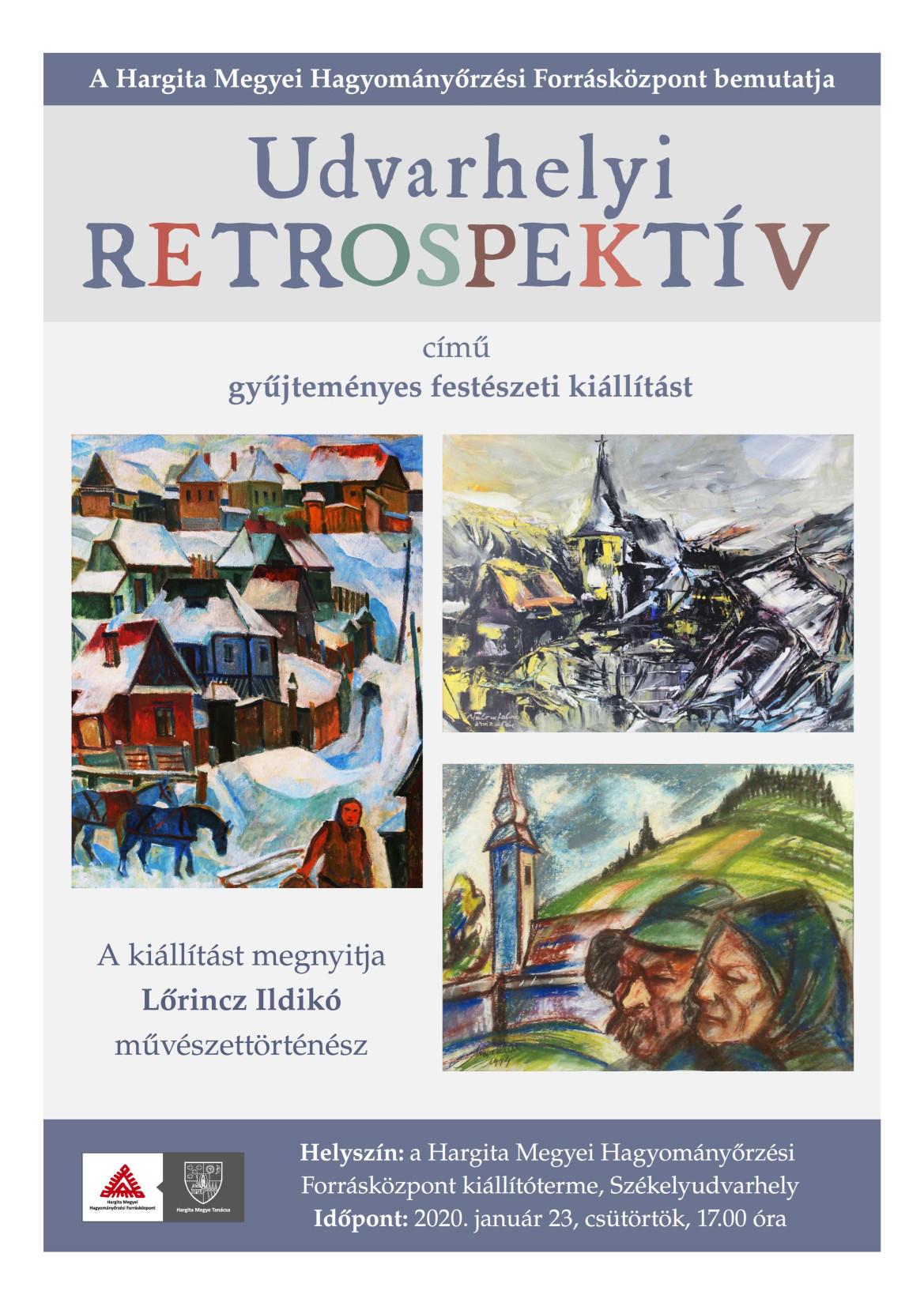 Udvarhelyi retrospektív. Gyűjteményes képzőművészeti kiállítás
