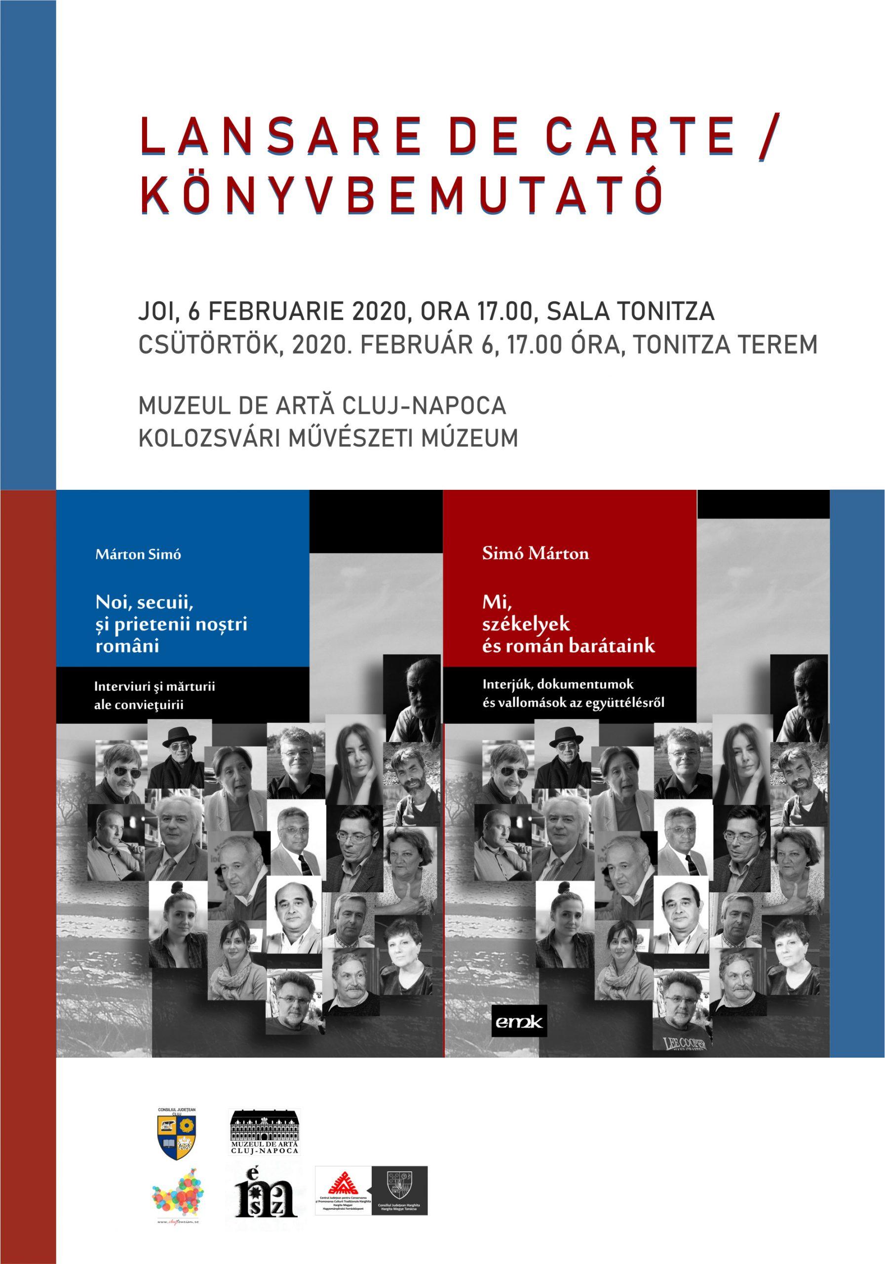 Noi, secuii și prietenii noștri români. Prezentare de carte la Cluj-Napoca