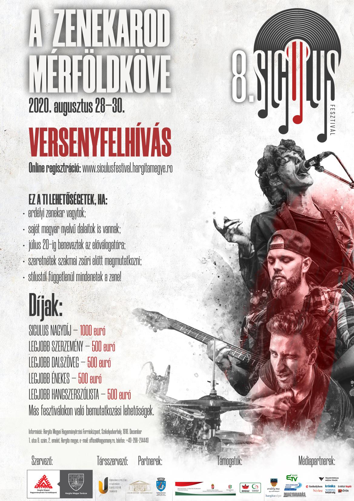 Apelul Festivalului muzical SICULUS, ediția a 8-a