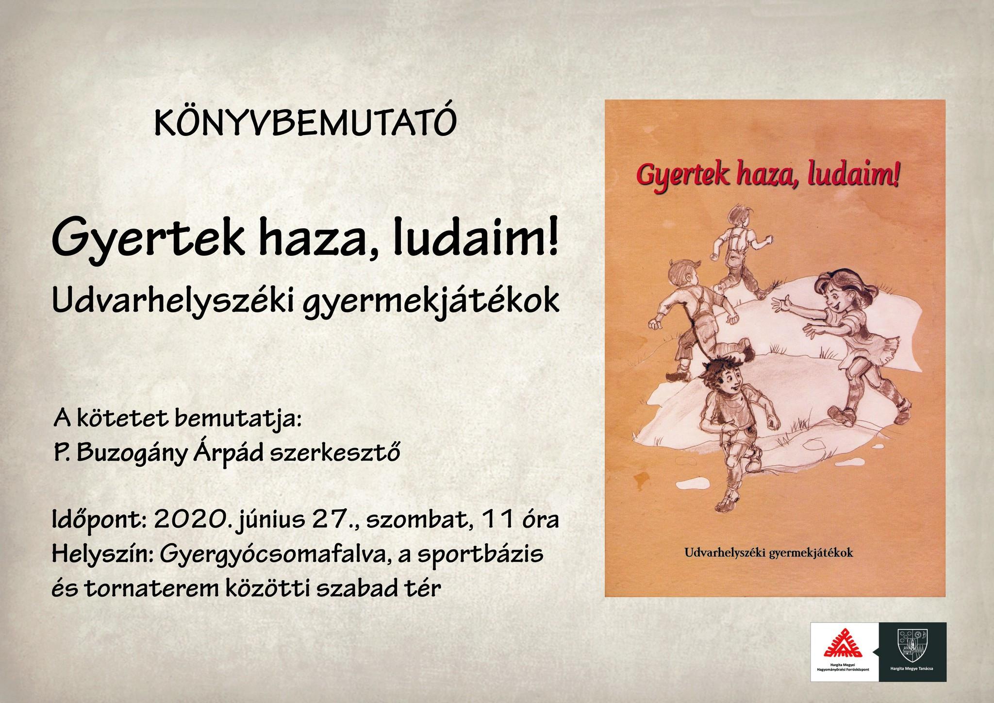 Prezentare carte la Ciumani: colecția jocurilor populare de copii din zona Odorhei