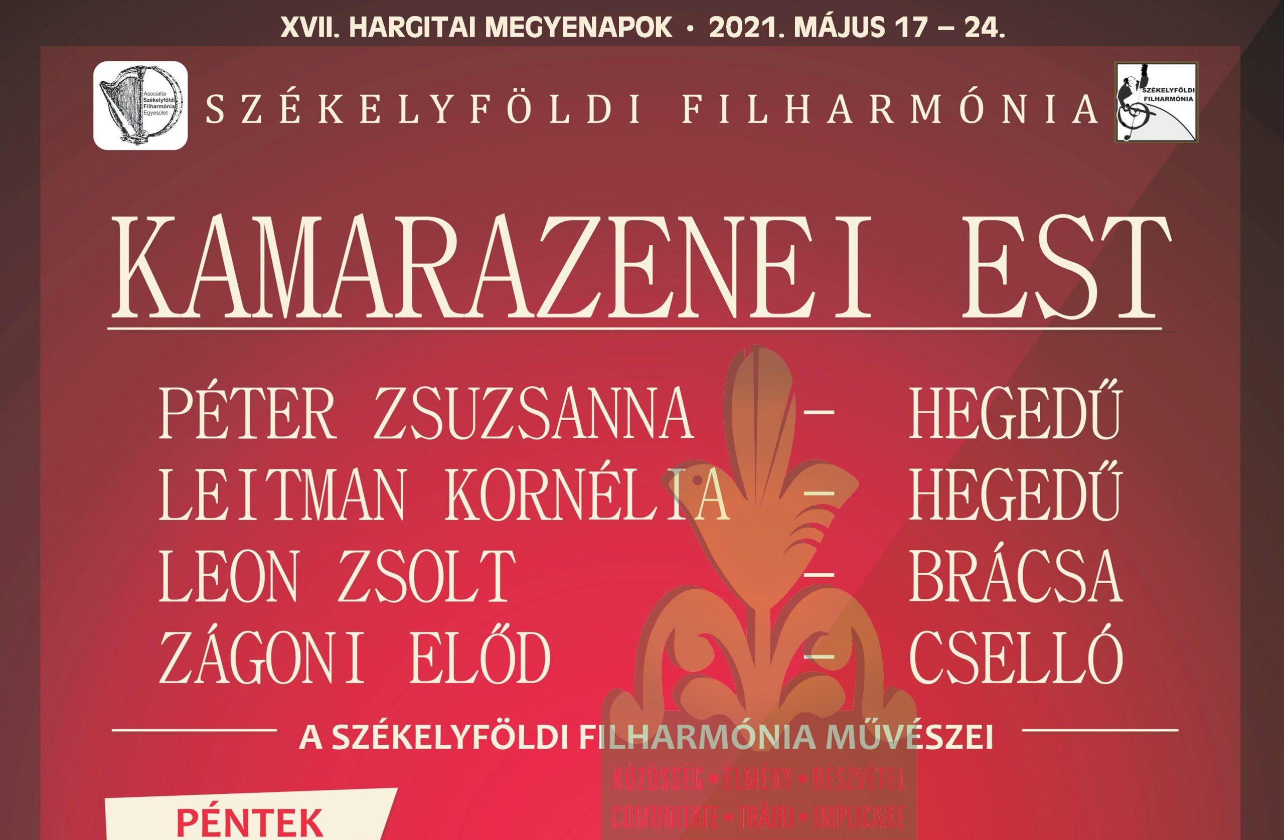 Kamarazenei hangverseny Zetelakán a Székelyföldi Filharmónia előadásában
